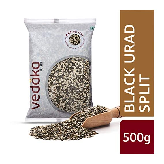 Amazon Brand - Vedaka Premium Black Urad Split/Chilka, 500g