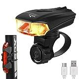 Jasonwell USB ultra-lumineux smart Rechargeable Alliage en Aluminium Feu Avant LED du vélo - FEU ARRIÈRE GRATUIT inclus - 400 Lumens Lumière de Vélo LED