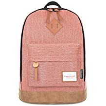 Minetom Mezclilla Backpack Mochilas Escolares Mochila Escolar Casual Bolsa Viaje Moda Color Sólido Unisex Madera