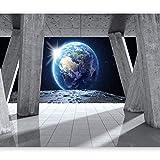 murando - Fototapete 400x280 cm - Vlies Tapete - Moderne Wanddeko - Design Tapete - Wandtapete - Wand Dekoration - Mond Kosmos Architektur Erde Erdball Planet Himmel n-C-0008-a-d