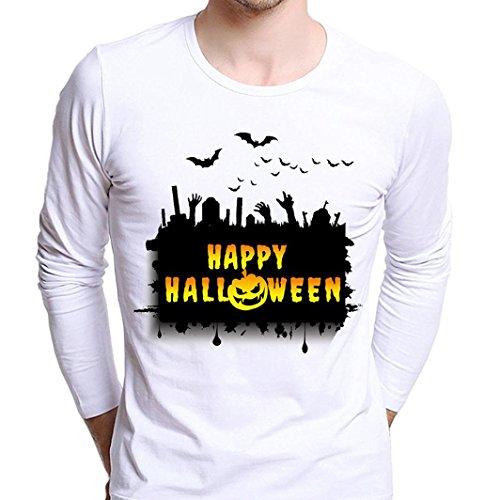 Beauté Top Homme Garçon Plus Size Print Castle Tees Bardian Cool Long Sleeve T-Shirt Blouse Tops (L)