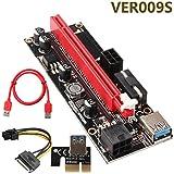 Eyeco PCIE Riser 16x auf 1x PCI-E Riser Adapterkarte with USB 3.0 Verlängerungskabel, 4 Feste kondensatoren-PCI Extender Riser Mining Bitcoin Litecoin Ethereum (1 Pack)