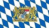 U24 Fahne Flagge Freistaat Bayern Bootsflagge Premiumqualität 30 x 45