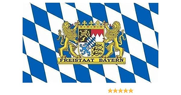 Fahne Flagge Deutschland Bayern ohne Wappen 30 x 45 cm
