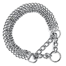 Trixie Chromed Triple Row Semi-Choke Chain with Strain Relief, 45 cm x 2.5 mm