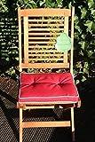 Asko Classic Garden 4 Stück Sitzkissen Malta für Hocker Gartenstühle Biergartenstühle Maße: ca. 39x39x4cm Farbe: Knallrot mit weißer Paspelierung
