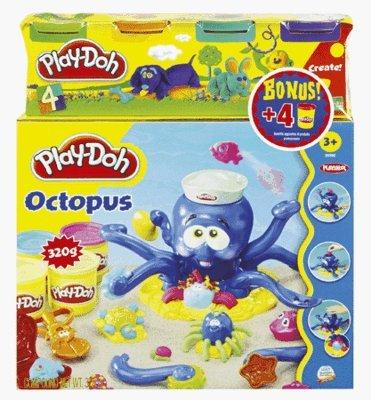 Play-Doh - 204721480 - Loisirs Créatifs - Pâte à Modeler - La Pieuvre + 4 Pots