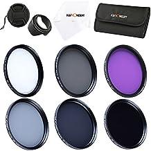 K&F Concept 62mm Filtro Kit FLD CPL UV ND2 ND4 ND8 Filtro Polarizzatore Circolare Stoffa di Pulizia Paraluce Cappuccio Filtri Custodia per Sigma Tamron Sony Alpha A57 A77 A65 DSLR Camera