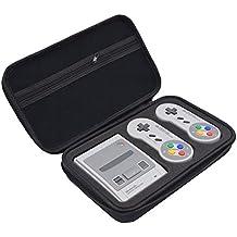 para Nintendo Super NES Classic Mini Funda, Estuche dura de transporte de lujo, para la consola Nintendo SNES Classic Mini (2017), Puede acomodarse 2 Mandos, cable HDMI, y más Accesorios