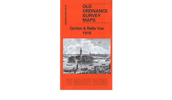 OLD ORDNANCE SURVEY MAP GORTON BELLE VUE 1916 MANCHESTER SLADE LANE HECTOR ST
