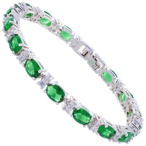 rizilia eternity tennis bracelet 18cm7inch with oval