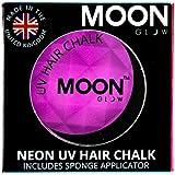 Moon Glow - Tiza para cabello UV de neón3.5g Púrpura-produce un brillo increíble bajo la iluminación/retroiluminación UV!