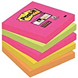 Post-it, Super Sticky Notes Pad, Coloured Notes Cape Town Collection, Memo Note Pad for Notes Taking and To Do List, 6 Pads o