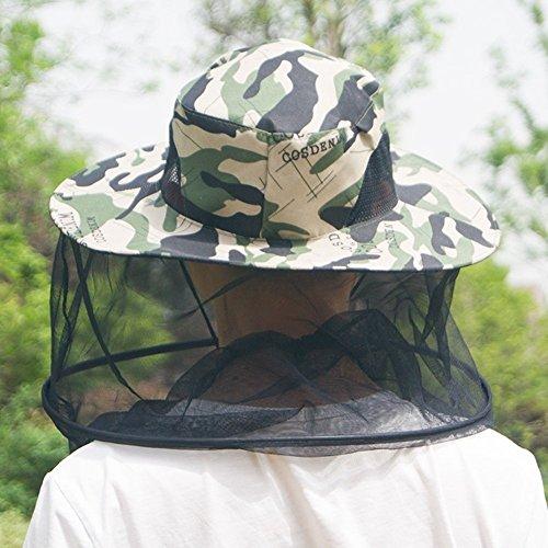 WENYAO Sommer Hut, Sonnenhut Männer Anti-Mückenstich Mit Schleier Mesh Atmungsaktive Sonnencreme Licht Dünn, 4 Farben Optional Boutique (Farbe: 3#) -