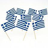 Griechenland   Grecian   Griechische Flagge Zahnstocher (100)