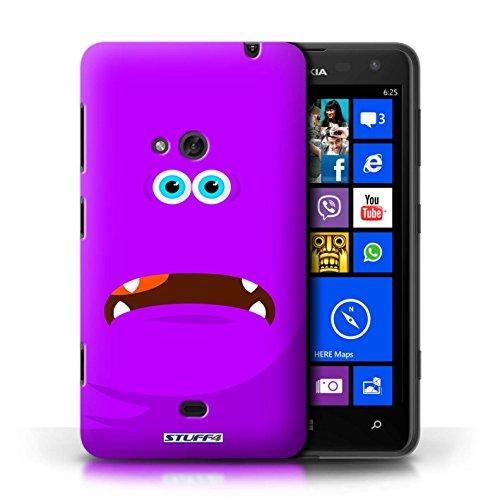 Kobalt® Imprimé Etui / Coque pour Nokia Lumia 625 / Vert conception / Série Monstres Pourpre