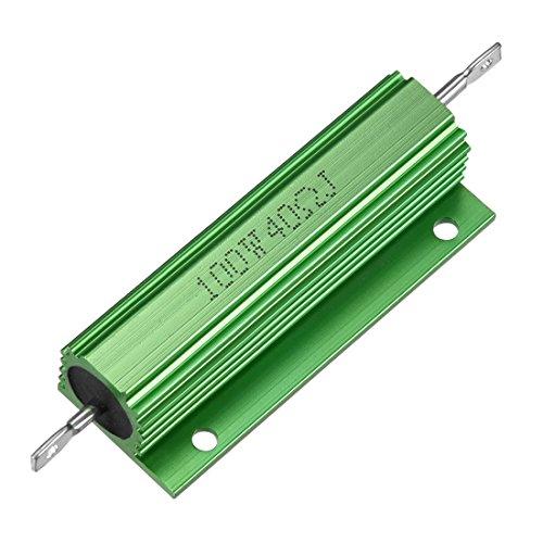 Sourcingmap Aluminium Fall Widerstand 100W 40Ohm Wirewound grün für LED Ersatz Konverter 100W 40RJ -