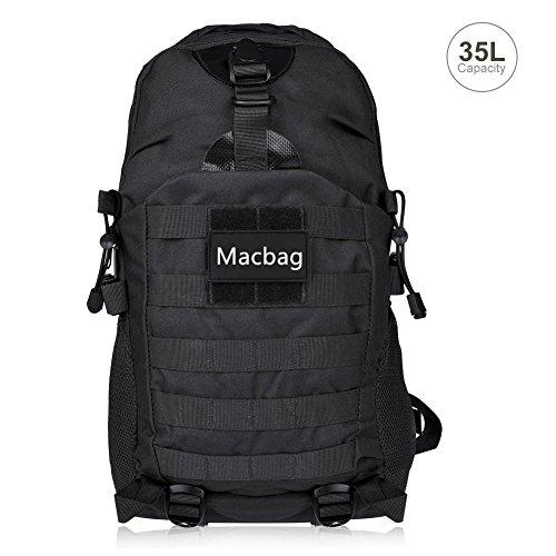 Imagen de macbag tactical  bolsa de viaje para actividades al aire libre senderismo escalada camping etc negro, 35 l
