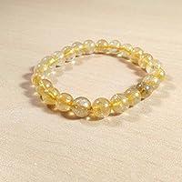 Bracelet Golden Rutile 8 MM Birthstone Handmade Healing Power Crystal Beads preisvergleich bei billige-tabletten.eu
