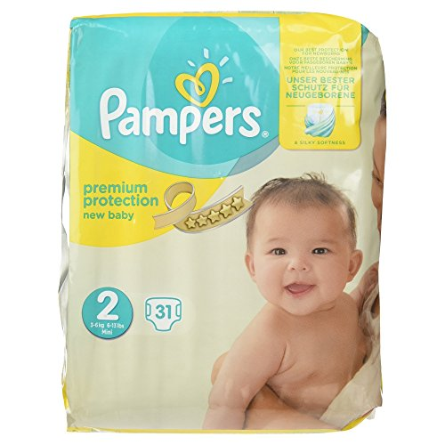 Pampers Premium Protection New Baby Größe 2, 31 Windeln