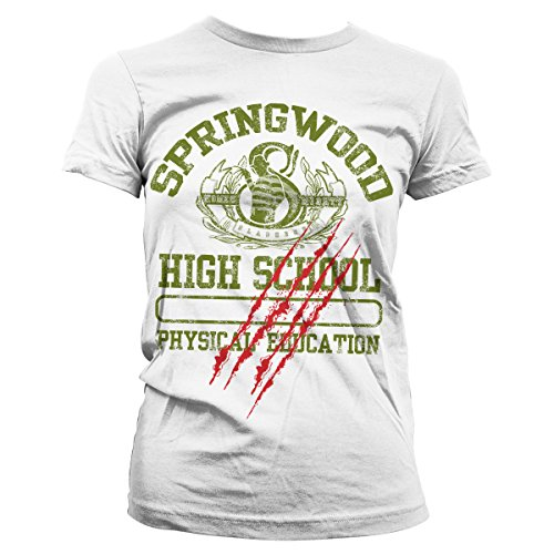 Officially Licensed Merchandise Springwood High School Girly Tee (White), Large