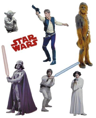 Unbekannt 7 TLG. Set Fensterbild - Star Wars Darth Vader - Sticker Fenstersticker Aufkleber selbstklebend wiederverwendbar The Clone Krieg der Sterne