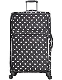 """Heritage 28"""" Polka Dot Printed 600d Polyester Expandable 4-Wheel Checked Luggage"""