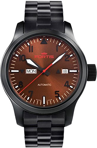 Fortis B-42 Aeromaster Dusk 655.18.98.M Automatic Mens Watch Excellent readability