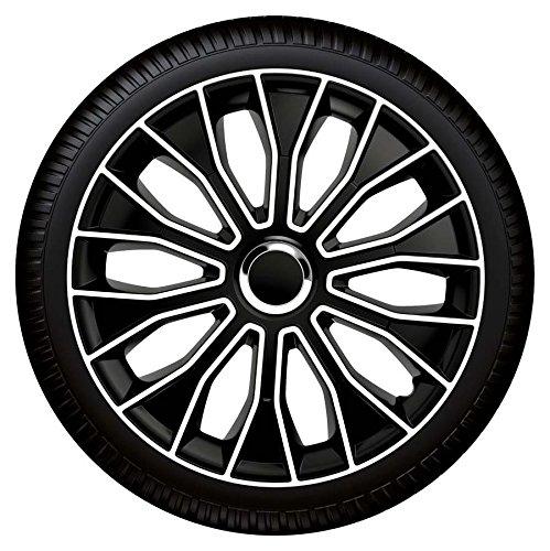 """Preisvergleich Produktbild 16 Zoll Radzierblenden Radkappen Voltec pro Black white 16"""" SCHWARZ WEIß"""