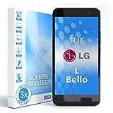 EAZY CASE 3X Bildschirmschutzfolie für LG L Bello, nur 0,05 mm dick I Bildschirmschutz, Schutzfolie, Bildschirmfolie, Transparent/Kristallklar