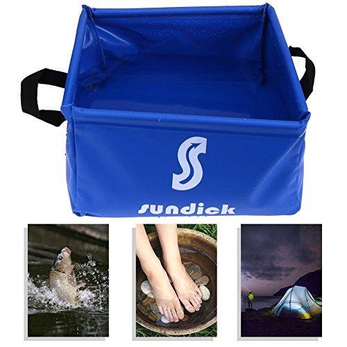 broadroot 15L al aire libre portátil plegable Cubo de Agua para senderismo agua Pot lavabo herramientas