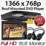 HD 17  TFT digital del coche del monitor de pantalla de montaje en techo para los coches tapa de monitor integrado modulador de FM reproductor de arriba de la entrada USB SD 2 Video