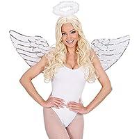 Engelsflügel und Heiligenschein Engel Kostüm Set weiß Engelskostüm White Angel Weihnachtsengel Christkind Kostümset