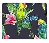 Jun XT Gaming Mousepad Bild-ID: 38741740Hippie Tapete mit farbigen Spring Blumen und Paisley