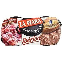La Piara Paté Tapa Negra Iberico - Paquete de 2 x 73 gr - Total: 146 gr