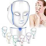 7 colori fotone LED Maschera bellezza luce terapia maschera firming per il viso collo anti rughe acne rimozione della pelle ringiovanimento poro shrink pelle grassa migliorare