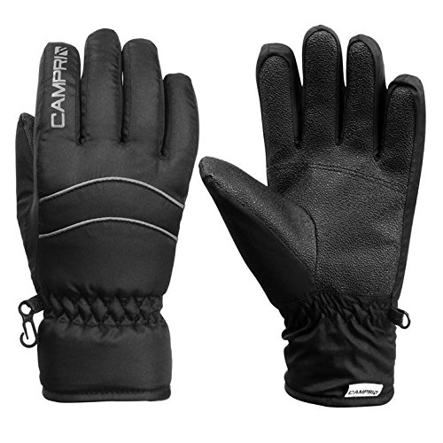 Campri Kids Ski Gloves Junior Snow Winter Sports Skiing Snowboarding Accessories Black XL