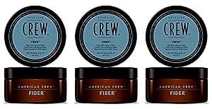 Lot de 3 American Crew - Crème de Modelage pour Cheveux - Fixation Forte et Brillance Faible - FIBER - 85g