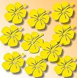 10 Aufkleber Blumen Hibiskus Fensteraufkleber/Schaufensteraufkleber Dekoration Fensterbilder Gestalten Sie Ihre Fenster mit diesen wunderschönen Stickern Größe 6 cm oder 12 cm Durchmesser