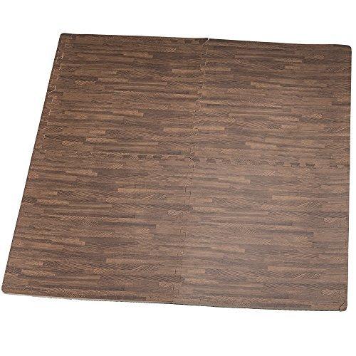 hemingweigh stampato il grano di legno ad incastro schiuma tappetini anti fatica puzzle - rende a superior fitness, a - set di 4 tessere (mix)