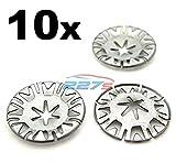 10x Metall Klemmscheibe Abdeckung Befestigung Clips für Audi Ford Seat Skoda VW N90335004 N90335006