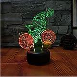 3D LED Nachtlicht Visuelles Nachtlicht Des Fahrrad-3D Kreative Nachttischlampe Des Dekorativen 3D Für Das Schlafzimmer Der Kinder Usb Führte 3D-Beleuchtungskörper