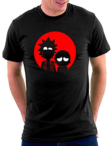 T-shirt ohne Rick and Morty Schwarz