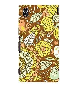 Floral Fruits 3D Hard Polycarbonate Designer Back Case Cover for Sony Xperia M4 Aqua :: Sony Xperia M4 Aqua Dual