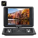 BW 14 Inch Portable DVD Player - Copy Function, 270 Degree Rotating Screen