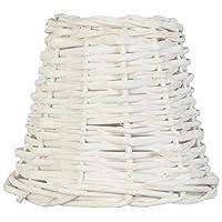 Clayre & Eef 6LAK0256W Lampshade Wicker White ca. Ø 14x 12cm E27