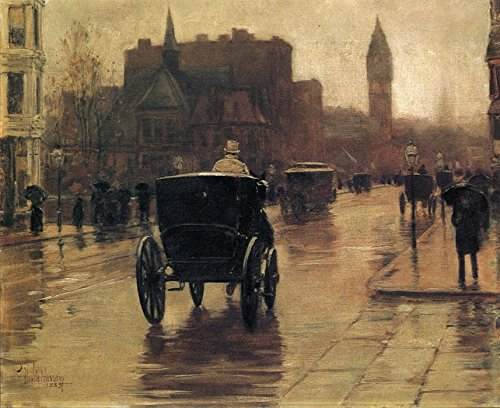 Das Museum Outlet - Columbus Avenue, rainy day 02, 1885 - A3 Poster
