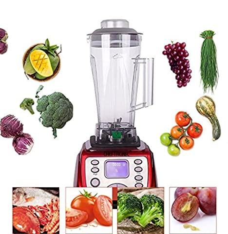 CHEFTRONIC 1.8QT/2000W Multi-Functional Professional Blender,High Speed Smart Kitchen Electric Food/Fruits