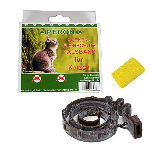 Lyra Pet Iperon Bio Flohhalsband Katze 38 cm Zeckenschutz Katze+ Insektenschwamm