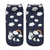 Rainbow Fox mujer unicornio calcetines único diseño , cómodo Deportes calcetines Niños (#1)